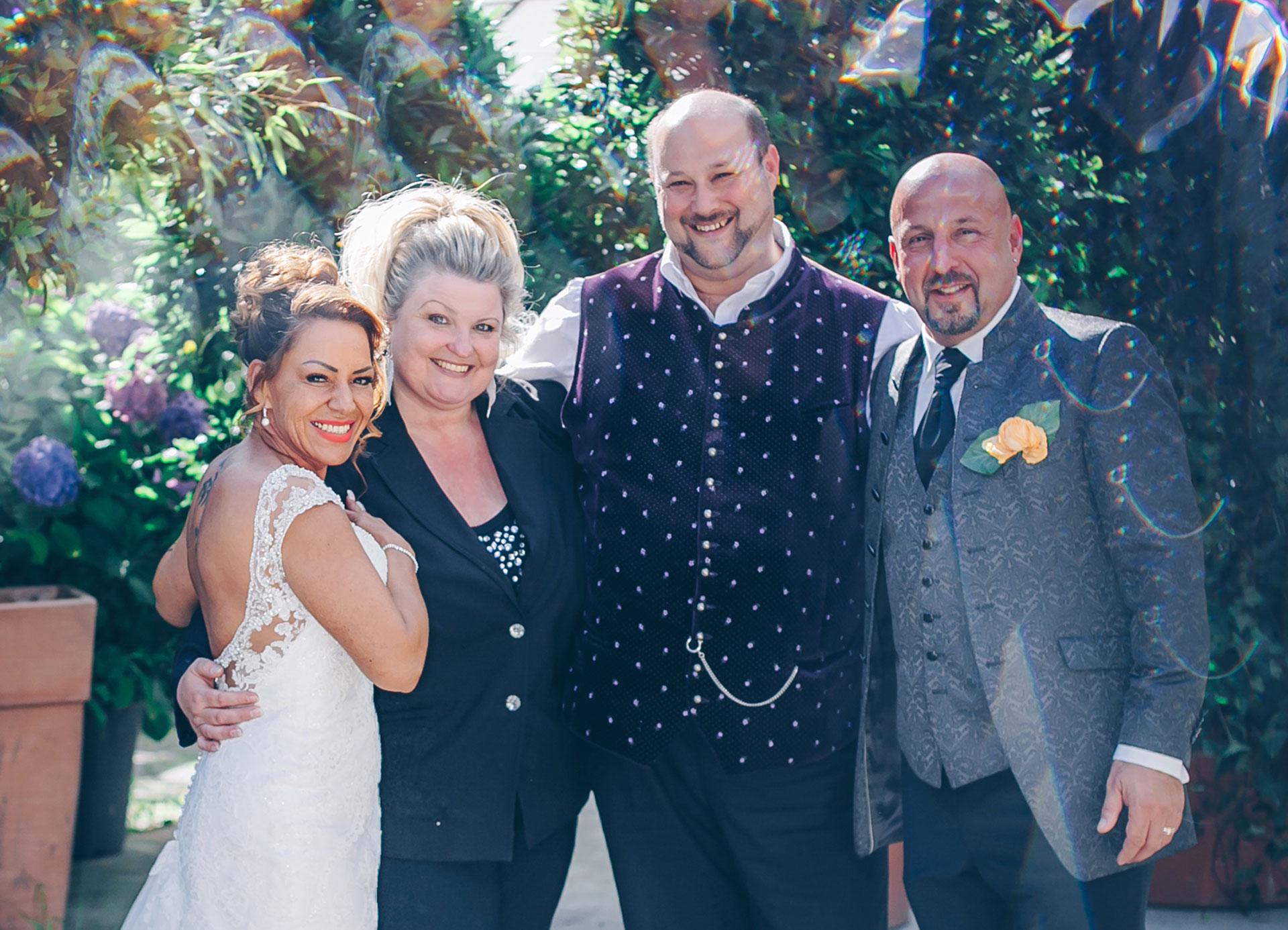 Hochzeit mit Sängerin Sonja